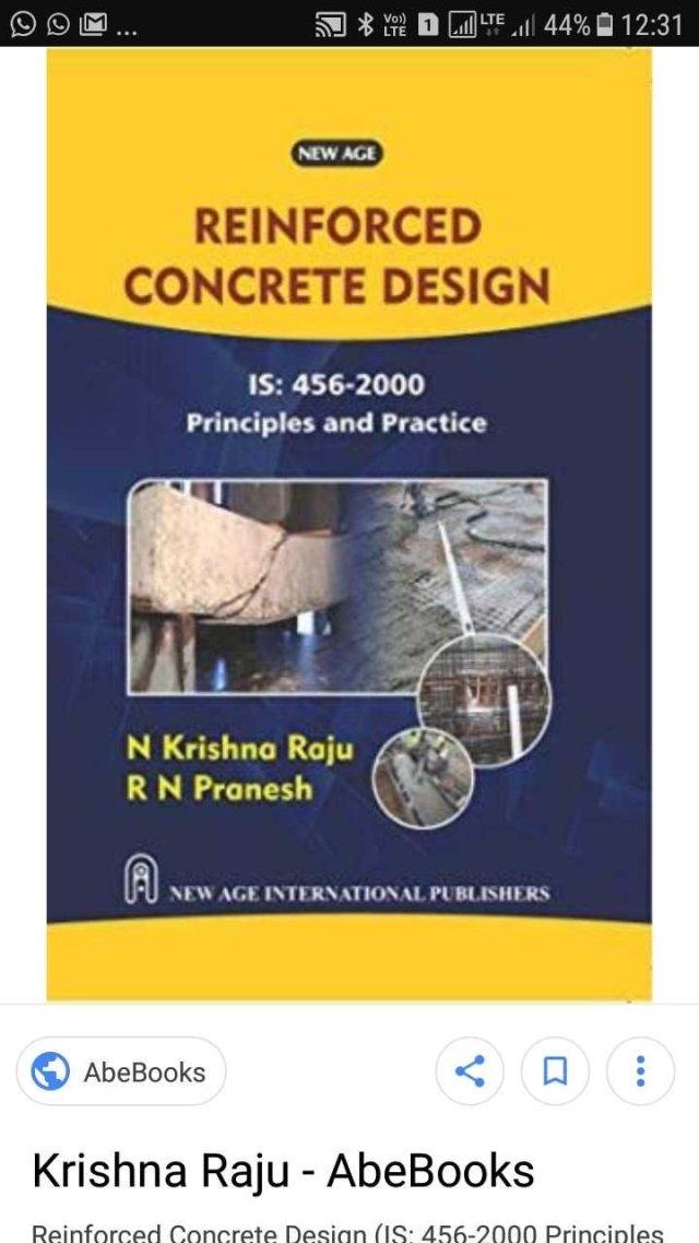 Reinforced Concrete Design By Nishnam Raju Panchayati Raj Engineers