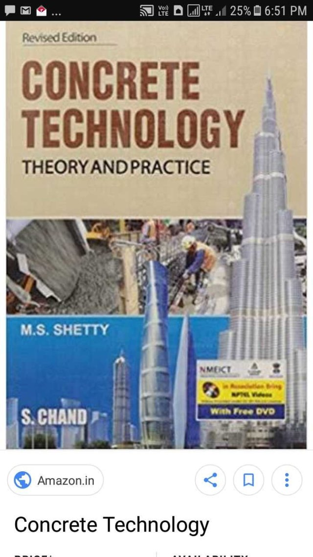 Concrete technology E book pdf by M S shetty – Panchayati