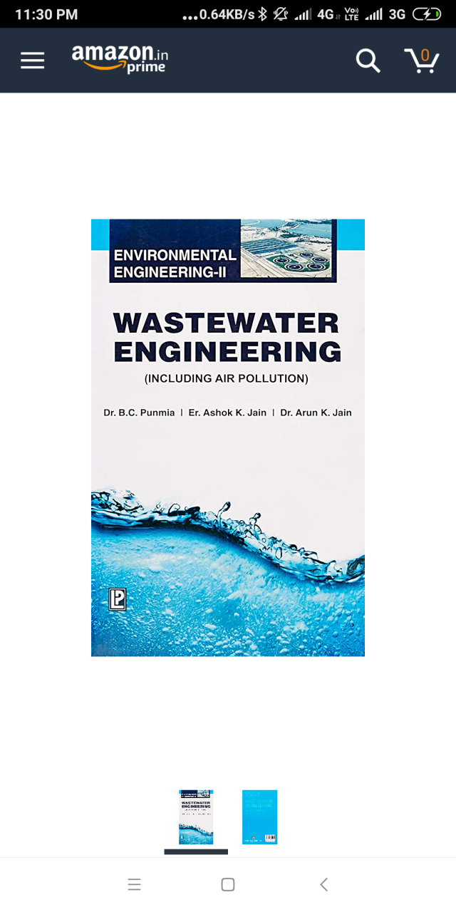 Wastewater Engineering incl Airpollution(Environmental Engg