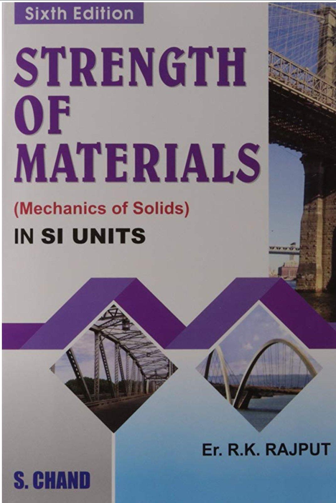 Strength Of Materials E Book Pdf By R K Rajput Panchayati Raj Engineers
