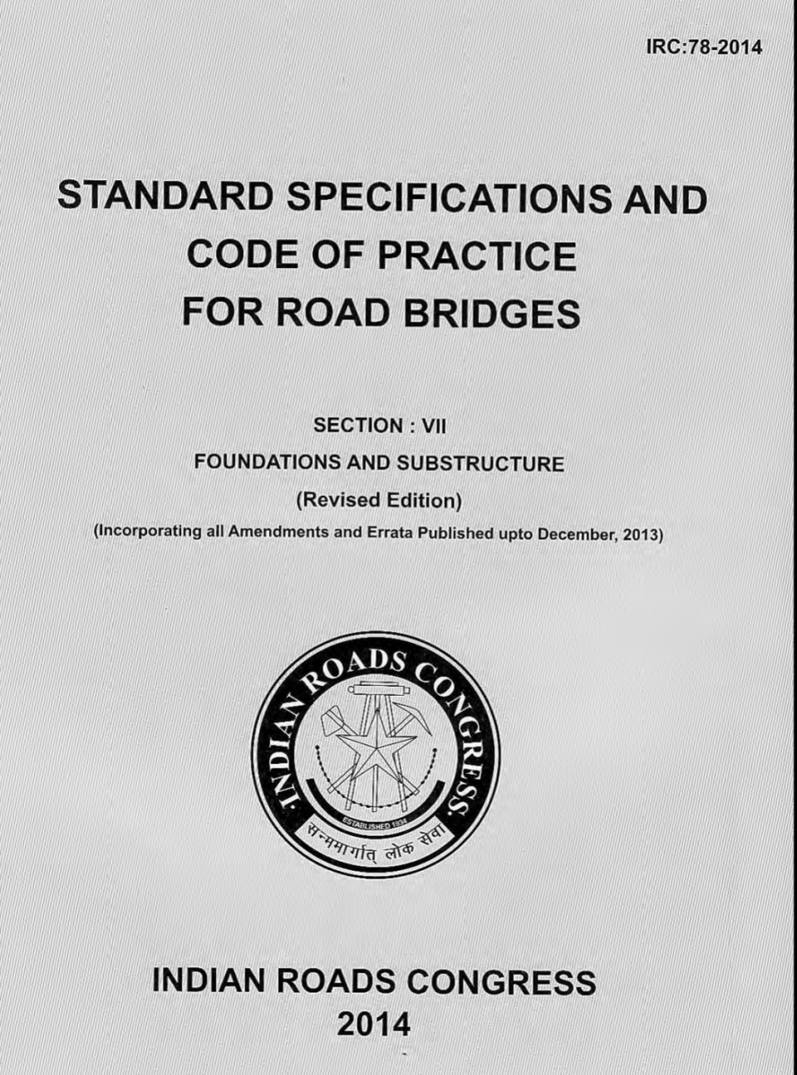 Download Irc Code Books For Highway Bridge Engineers Irc Sp 20 Morth Data For Roads And Bridges Panchayati Raj Engineers