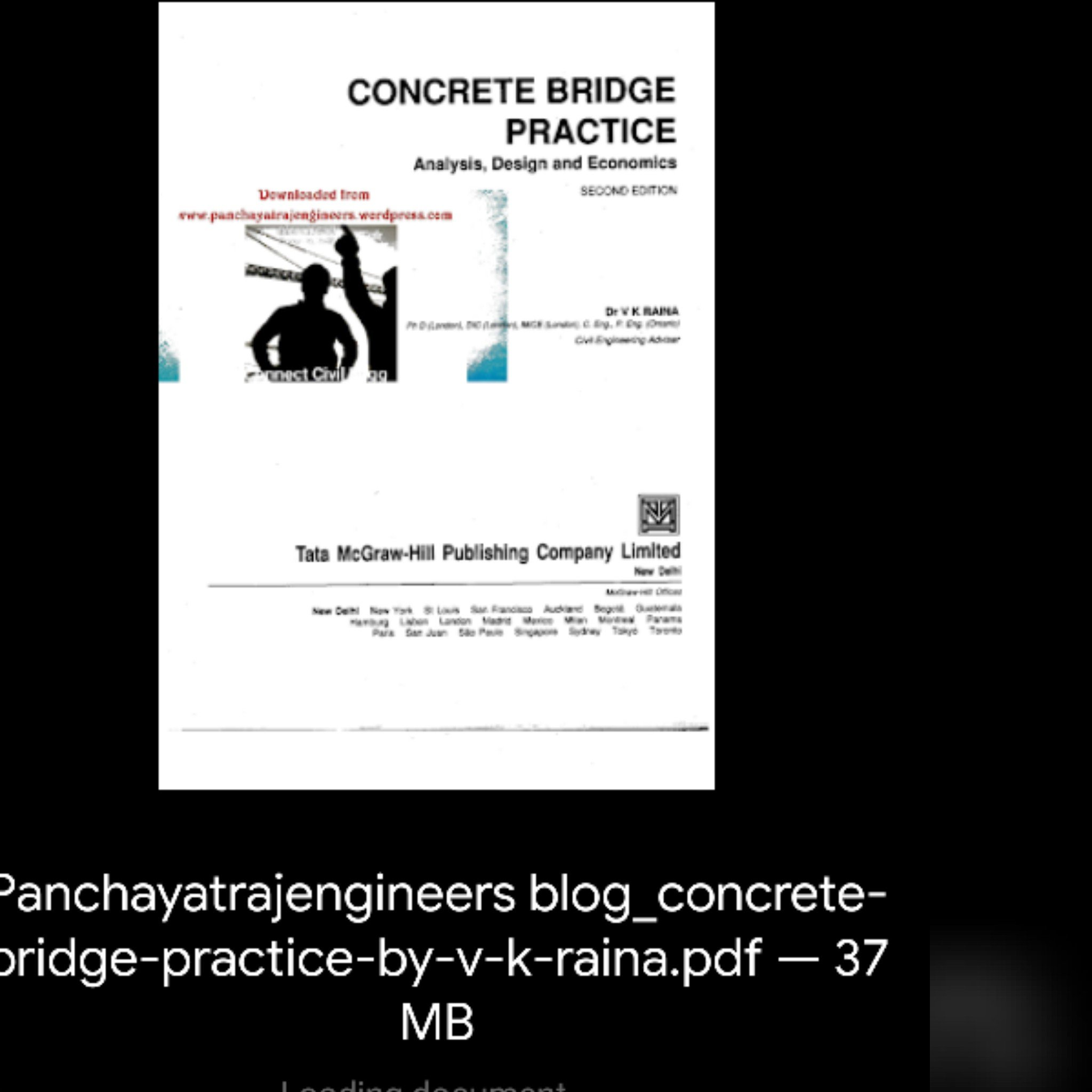 Concrete Bridge Practice by V K Raina pdf – Panchayati Raj Engineers