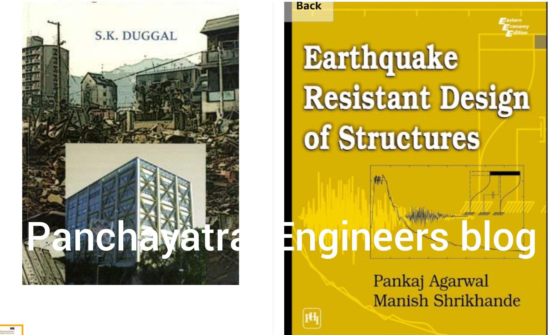 Earthquake Resistance Design Of Structures By S K Duggal Pankaj Agarwal Panchayati Raj Engineers